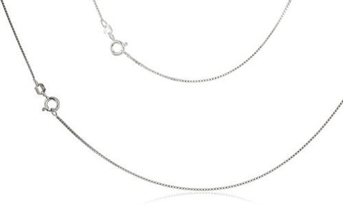 "925 Italy Sterling Silver .60mm Box Chain Nickel Free Necklace - 16"" 18"" 20"" & 24"" Available"