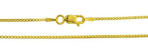 "925 Italy Sterling Vermeil 1.2mm Box Chain - 16"" & 18"" Available"