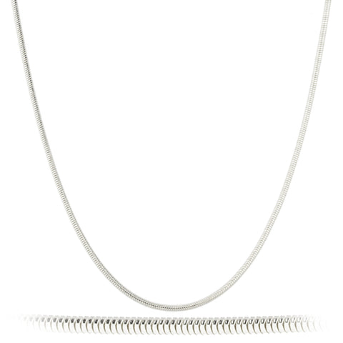 925 Oval Snake Chain 20 Inches
