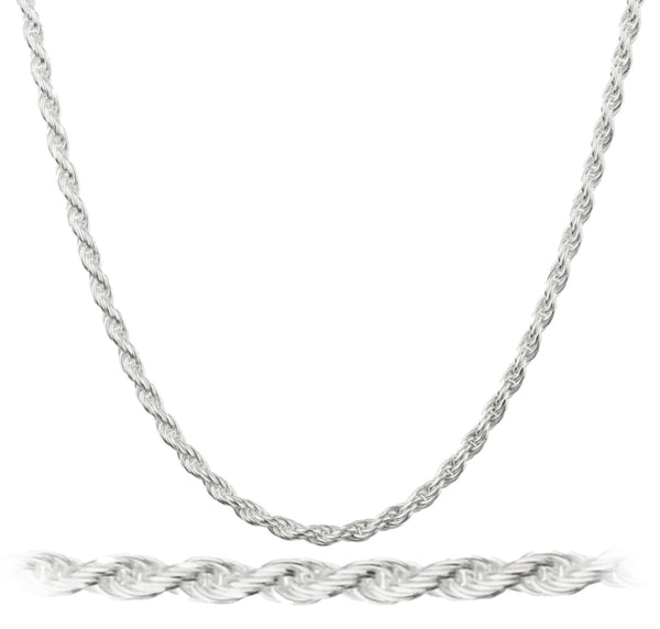 925 Sterling Silver 1.2mm Rope Chain