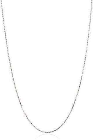 "925 Sterling Silver 1.35mm Rhodium Plated Popcorn Chain - 16"" 18"" & 20"" Available"
