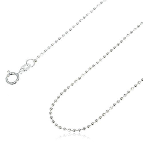 925 Sterling Silver 1.5mm D-Cut Bead...