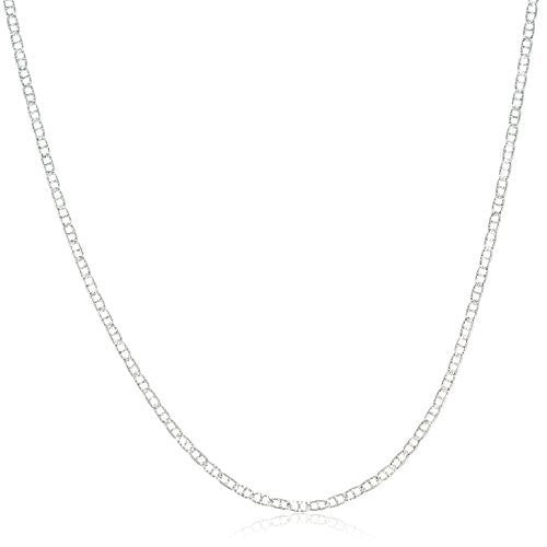 925 Sterling Silver 1.5mm Flat Mariner Chain