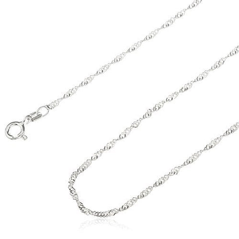 925 Sterling Silver 1.5mm Singapore Chain