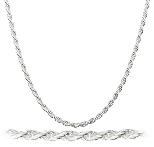 925 Sterling Silver 1.7mm Rope Chain...