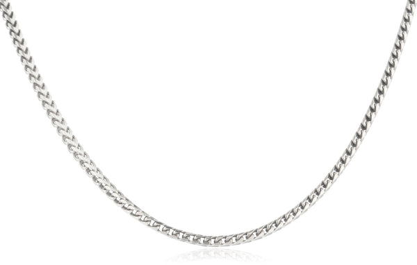 925 Sterling Silver 1.8mm Franco Chain - Available In 20 Inches And 24 Inches