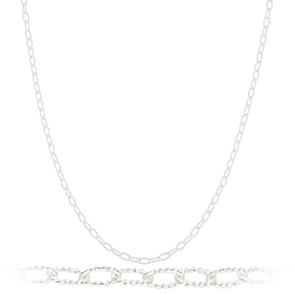 925 Sterling Silver 2.5mm Filo Link Chain Necklace