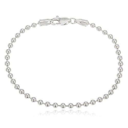 925 Sterling Silver 3mm Ball Bead...