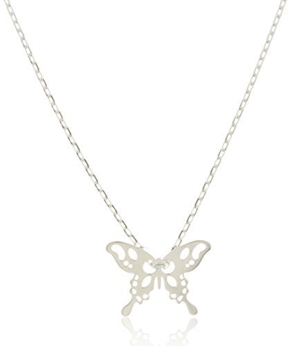 925 Sterling Silver Butterfly Pendant With...