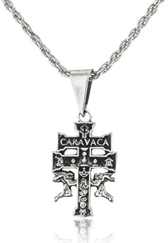 925 Sterling Silver Caravaca Cross With...