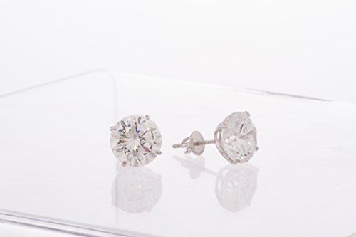 925 Sterling Silver Clear Round Cz...
