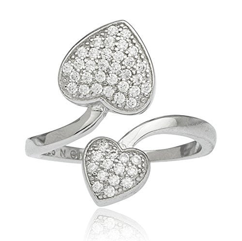 925 Sterling Silver Cubic Zirconia Hearts...