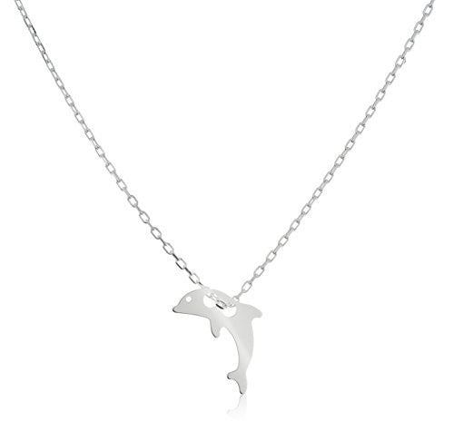925 Sterling Silver Dolphin Pendant With...