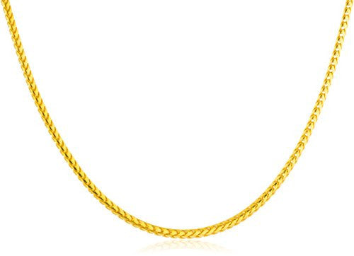 925 Sterling Silver Goldtone 1.5mm Franco...