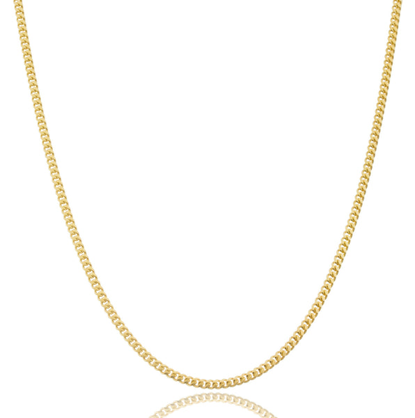 925 Sterling Silver Goldtone 2mm Miami Cuban Chain