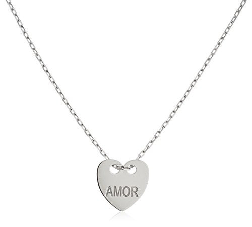 925 Sterling Silver Heart With Engraved...