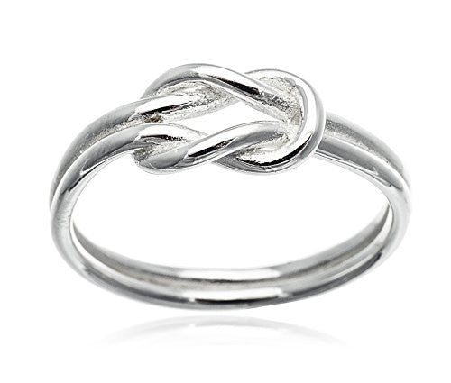 925 Sterling Silver Love Knot Ring...