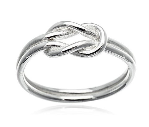 925 Sterling Silver Love Knot Ring - Nickel Free (6)