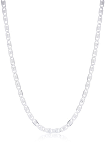 "925 Sterling Silver Reversible Valentino Chain Necklace - 18"" & 20"" Available"
