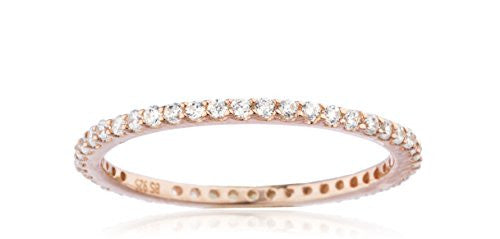 925 Sterling Silver Rose Goldtone Simple...