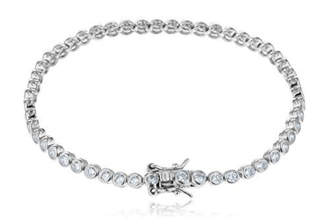 925 Sterling Silver Tennis Bracelet With Cirlce Cz Stones