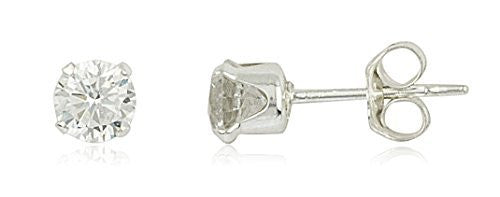 925 Sterling Silver With Clear Round...