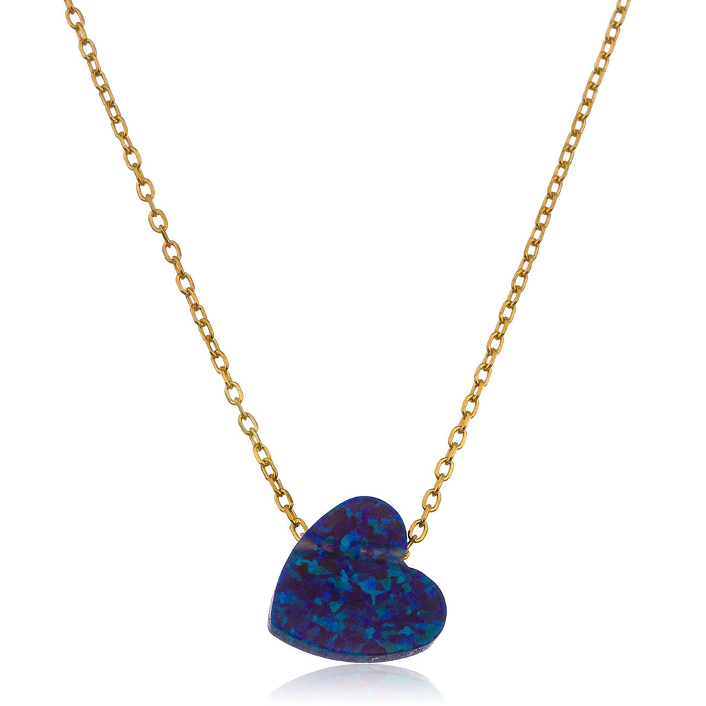 925 Sterling Gold Plated Dark Blue...