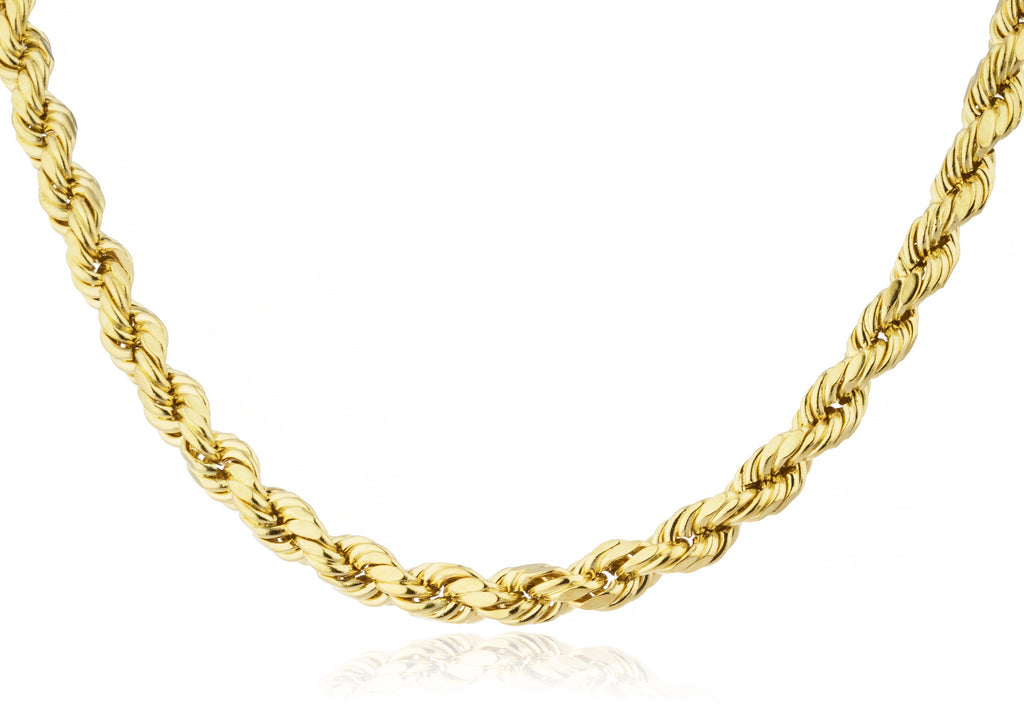 14k Yellow Gold 6mm D-cut Rope...