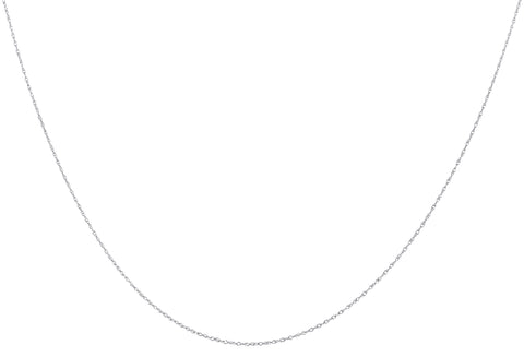 14k White Gold .8mm Singapore Chain Necklace 18inch