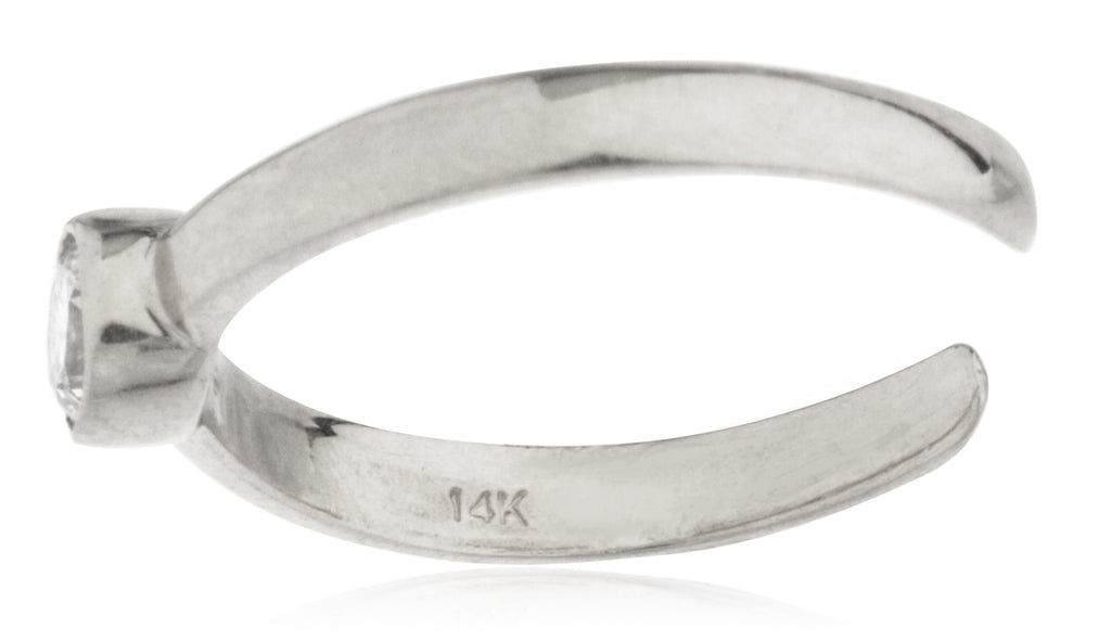 14K Yellow or White Gold Simple...