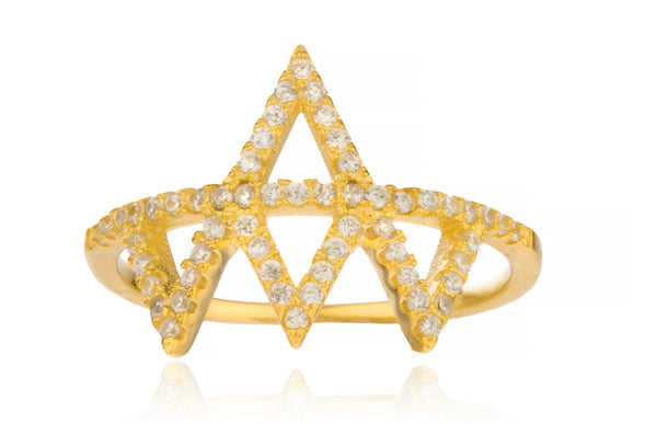 Ladies Sterling Silver Ring Iced Out 'Crown' (8)