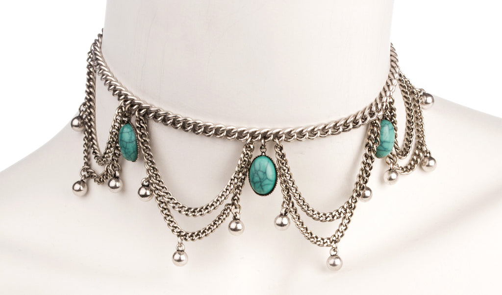 Antique Style Multiple Link Dangling Choke...