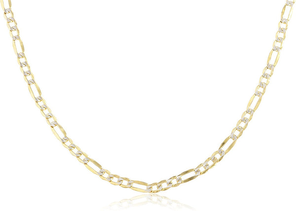 Golden Pave Figaro Chain 3mm