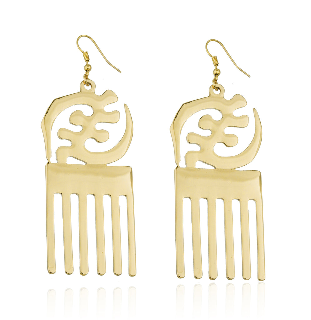 Goldtone Adinkra Symbols of West Africa...