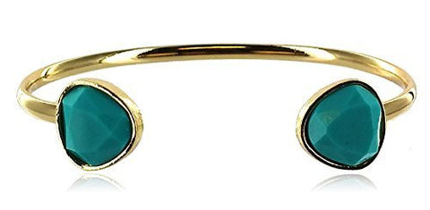 Acrylic Stones Cuff Bracelet - Assorted Colors