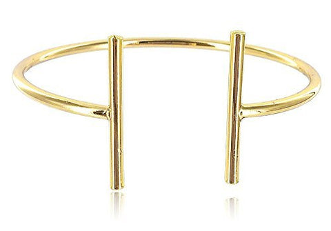 Adjustable Cuff Bangle Bracelet With Bar - Three Available Colors