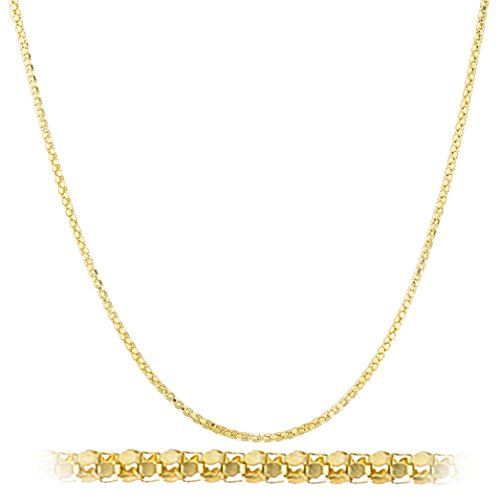 925 Sterling Silver Gold Colored 1.55mm Coreana Chain