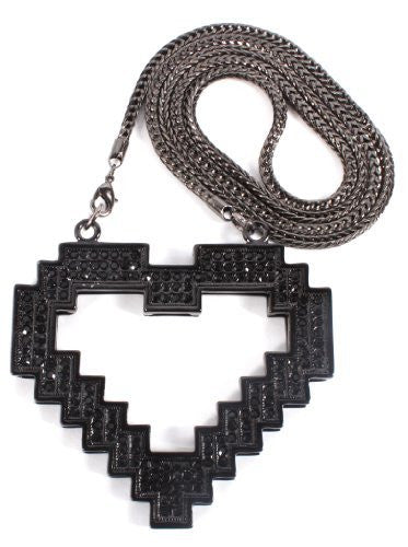 Black Heart Pendant With A 36...