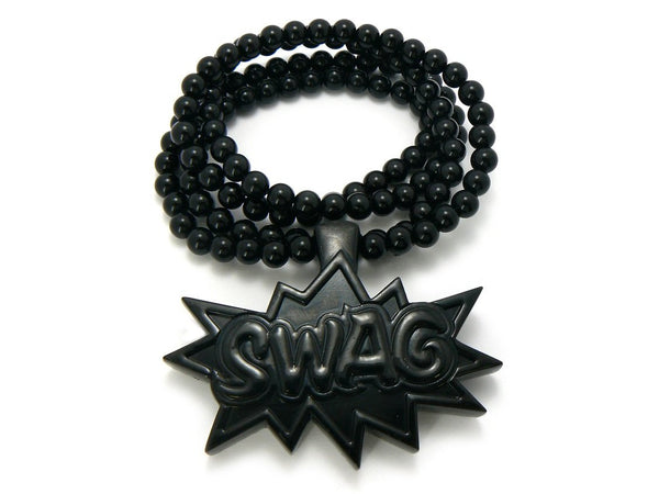 Black Swag Pendant With A 36 Inch Necklace Chain Good Quality Homica