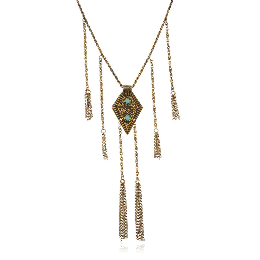 Brass Egyptian Antique Pendant With Dangling...