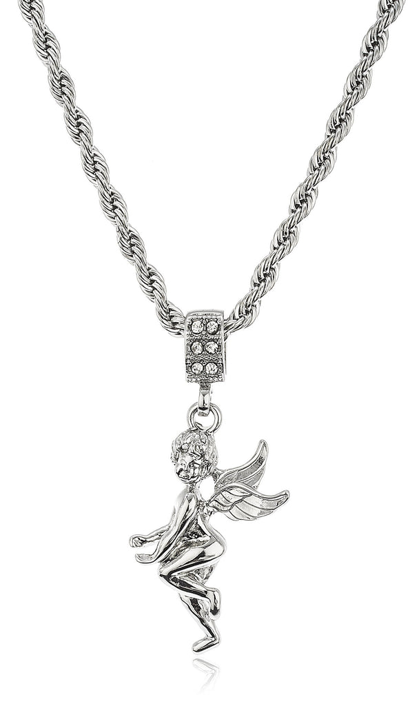 Cherub Pendant With A 24 Inch...