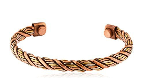Copper Alternating Rope Chain Style Adjustable...