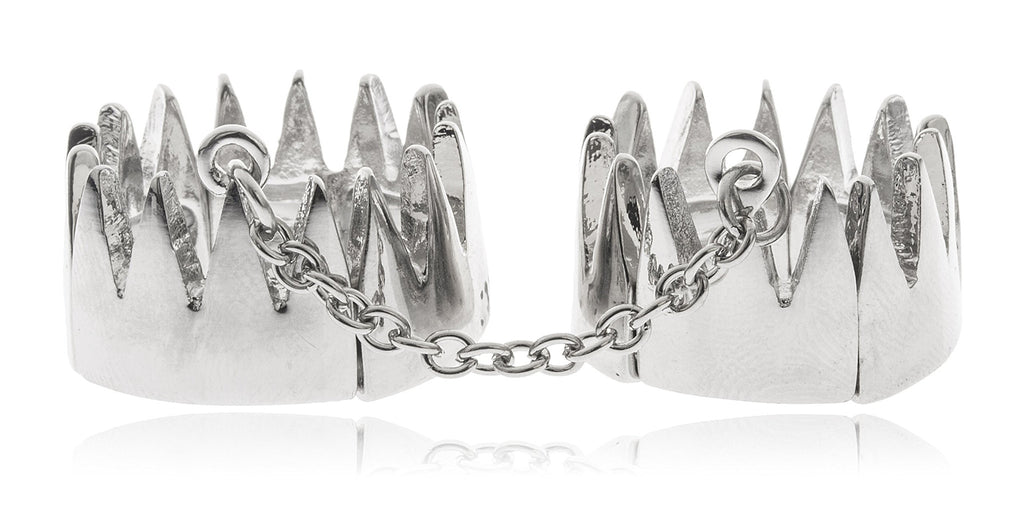 Double Crown With Attaching Chain Finger...
