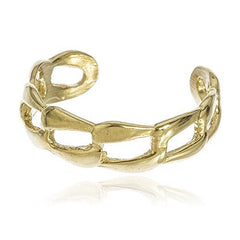 10k Yellow Gold Cuban Link Toe Ring