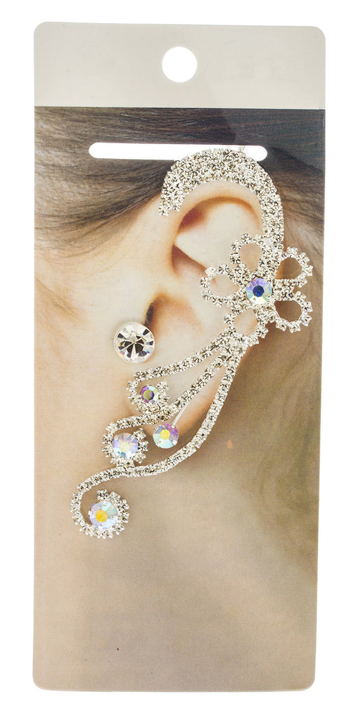 Fancy Flower Spiral Bridal Design Ear...