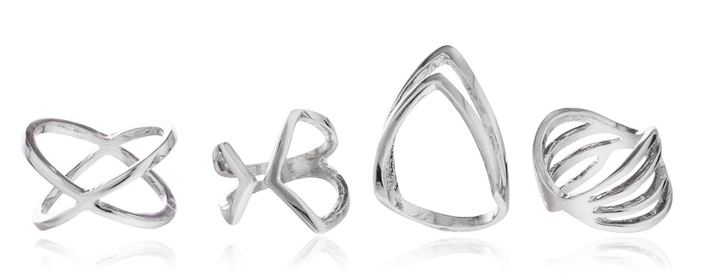 Four Piece Assorted Styles Finger Ring...