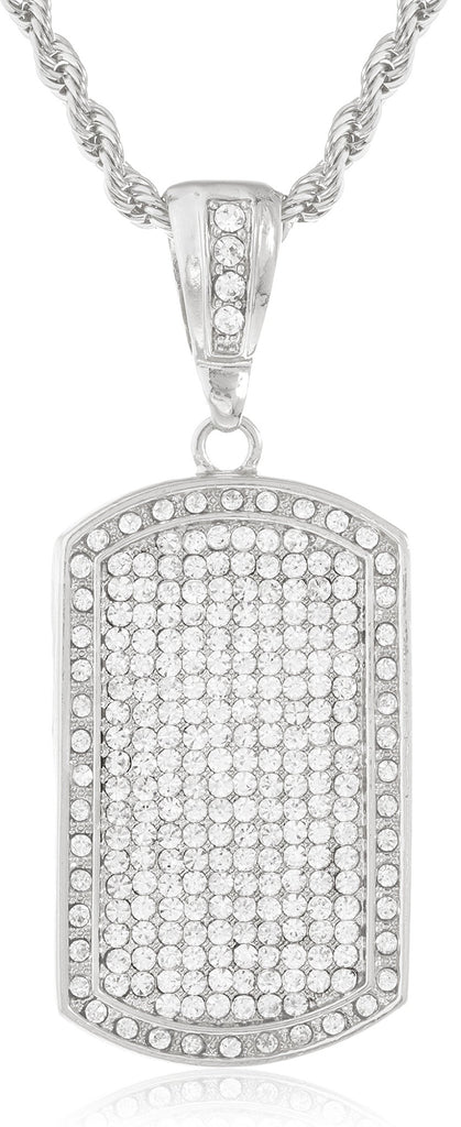 Fully Iced Out Large Dog Tag...