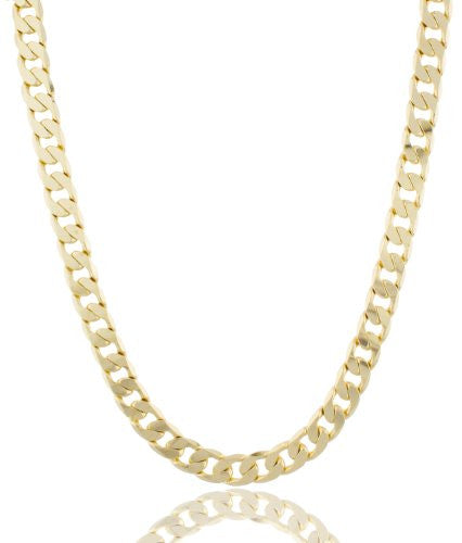 Gold Brass 12mm Flat Cuban Chain...