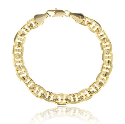 Gold Brass 8mm Frosted Concave Mariner...