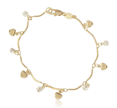 Bracelet with Dangling Hearts